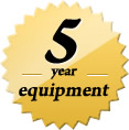 5 Years Equipment and Controls